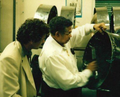 Felix Rohner et Ellie Mannette 1995 PANArt Hangbau SA