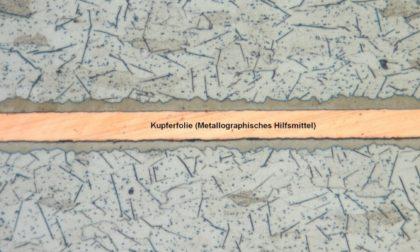 Polished micrograph of Pang composite PANArt Hangbau SA